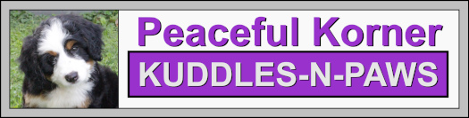 Peaceful Korner Kuddles logo